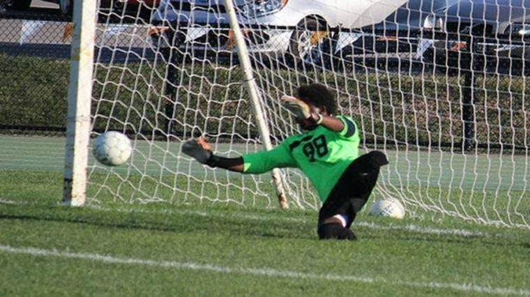 soccer goalie without legs