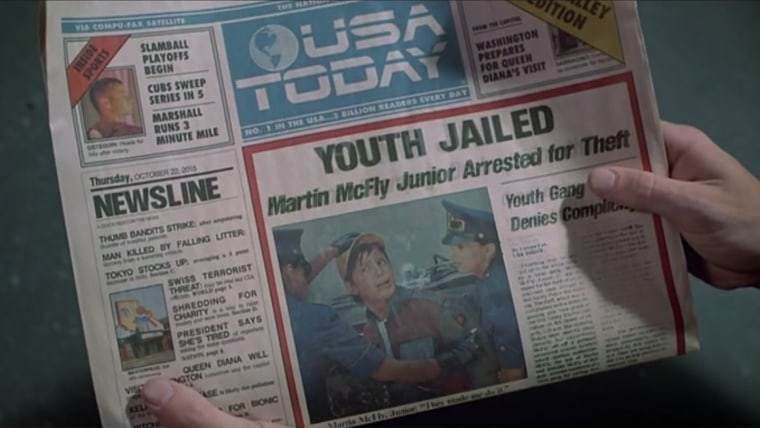 The newspaper from Back to the Future