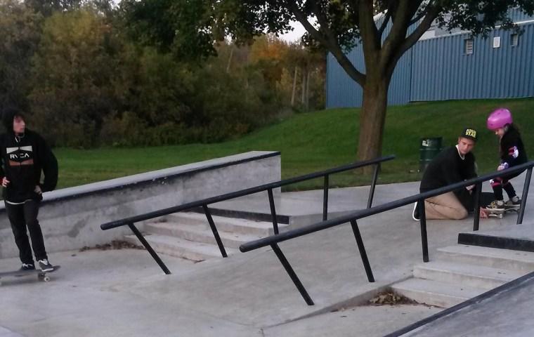 Dear teenage boy at skate park.