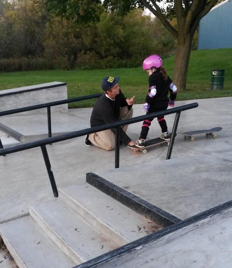 Dear teenage boy at skate park