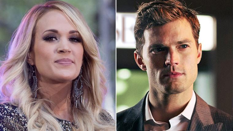 Carrie Underwood and Jamie Dornan as Christian Grey.