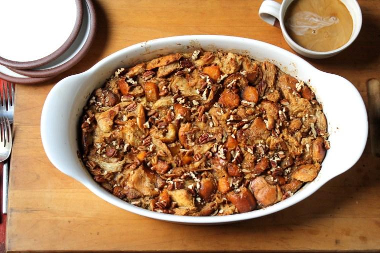 Caramel Pumpkin Bread Pudding