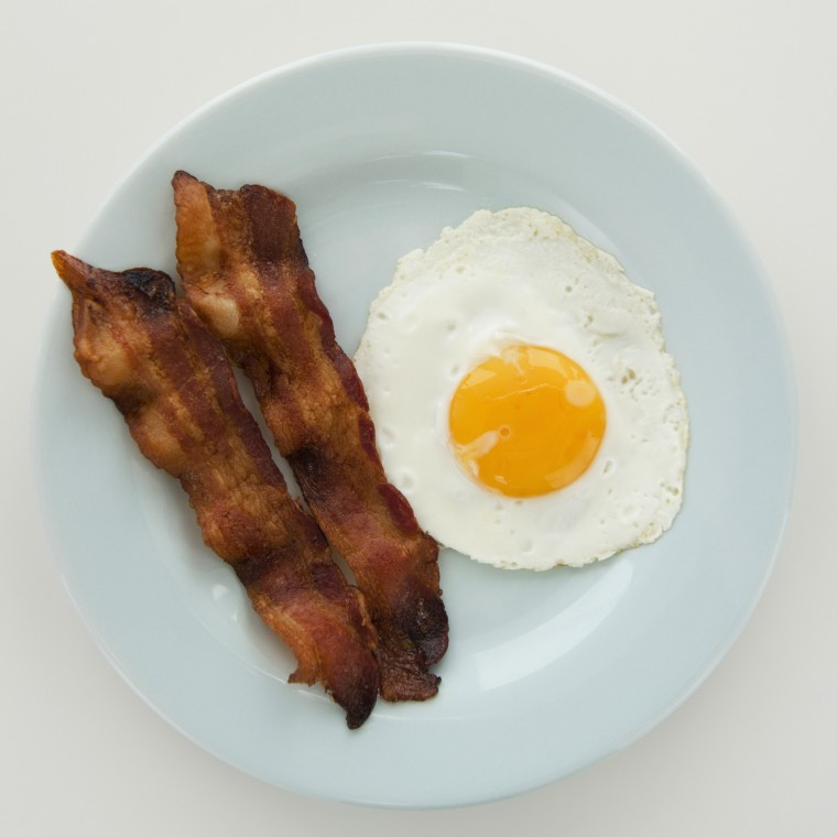 Bacon and fried egg.