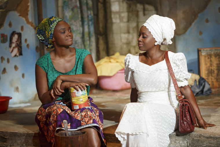 Saycon Sengbloh and Akosua Busia in ECLIPSED, written by Danai Gurira and directed by Liesl Tommy, running at The Public Theater. Photo credit: Joan Marcus.