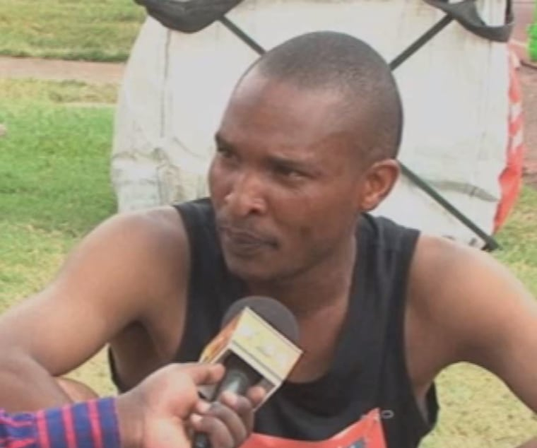 Julius Njogu told reporters he had run the whole course.