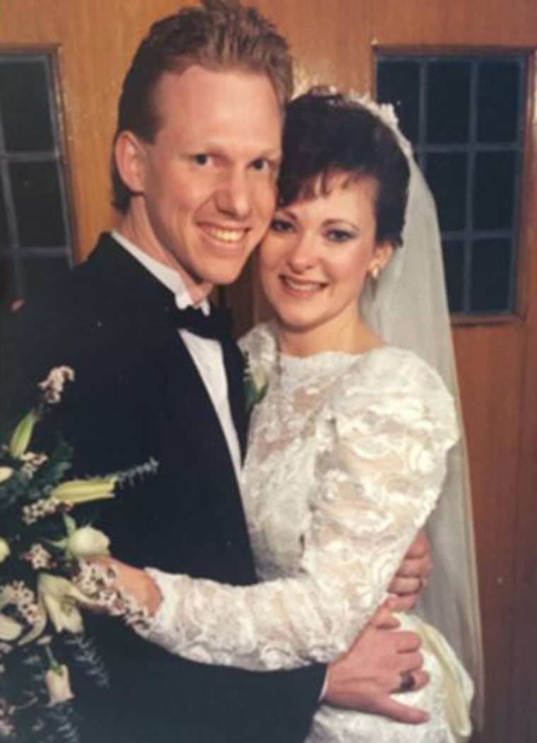 Dave and Patti Stevens were married in 1990 in Michigan.