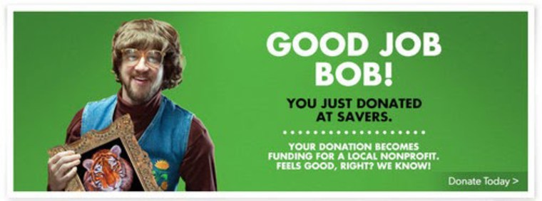 Photo: Marketing material for Savers stores.