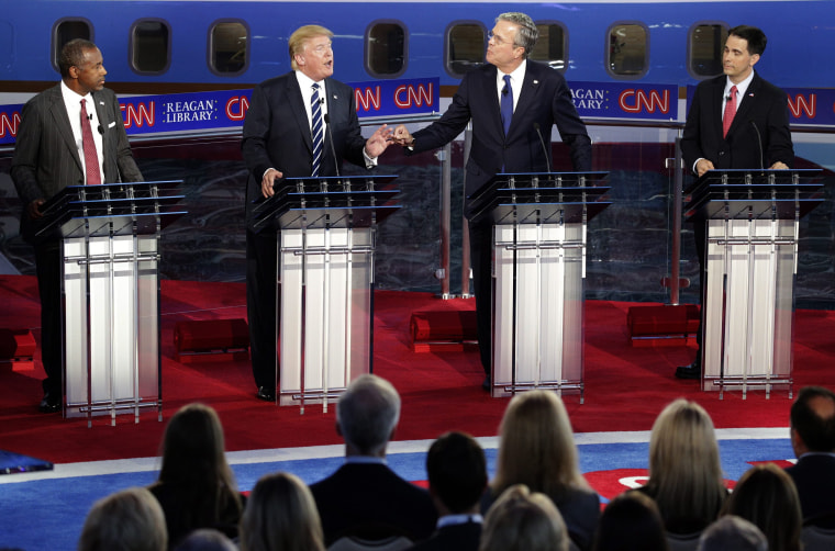 Image: US Republican Presidential debate at the  Ronald Reagan Presidential Library