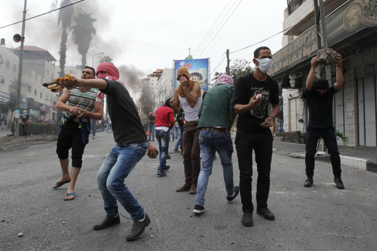 Image: Clashes in Hebron