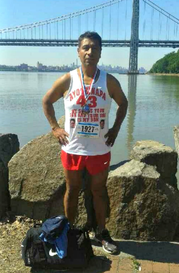 Mexican immigrant Antonio Tizapa is running his first New York City Marathon this Sunday.