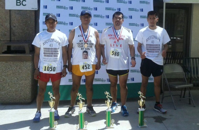 Bronx Community College 5K, 2015. Antonio Tizapa finished in 4th place overall, 1st place in category 40 to 49-year-olds.