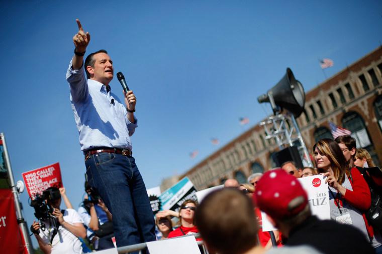 Image: Ted Cruz speaks at the Iowa State Fair