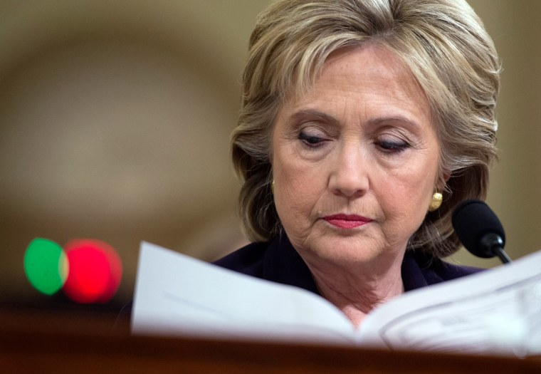 Image: Hillary Clinton appears before the House Select Committee on Benghazi