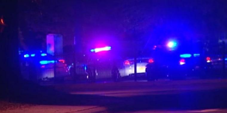 Police respond to a shooting at Winston-Salem State University.