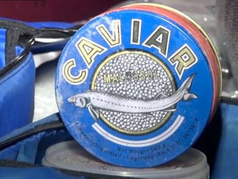 IMAGE: Contraband caviar found in Russian hearse