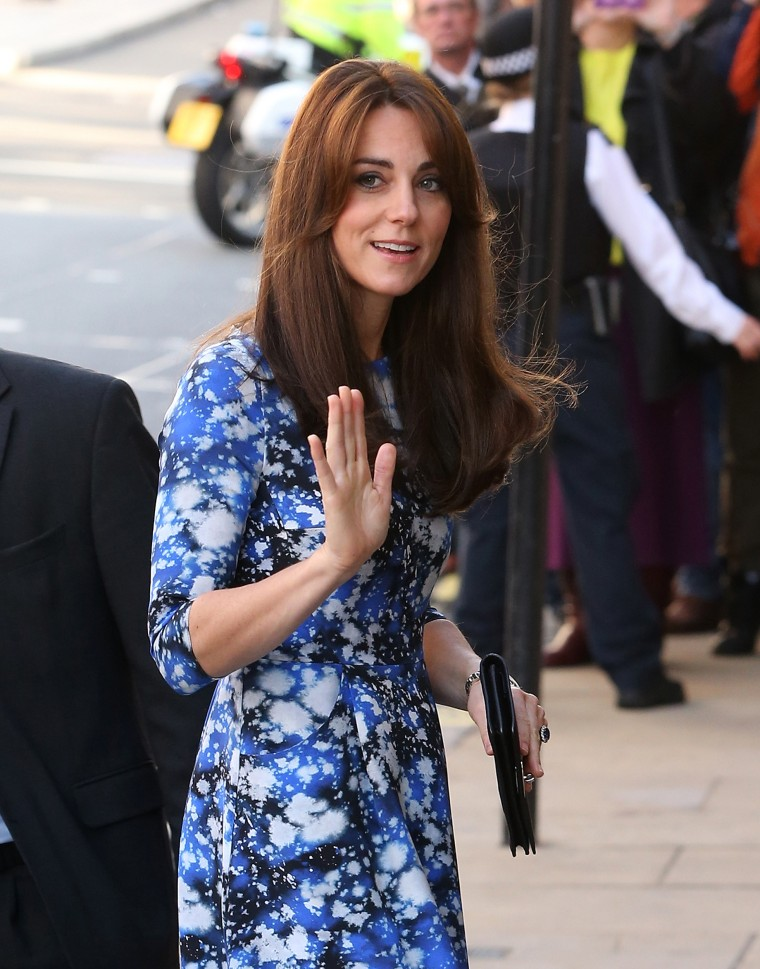 The Duchess of Cambridge was all smiles as she arrived.