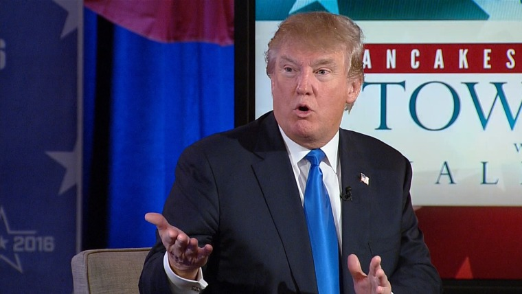 Donald Trump outlined his stance on the Syrian refugee crisis in a town hall on TODAY.