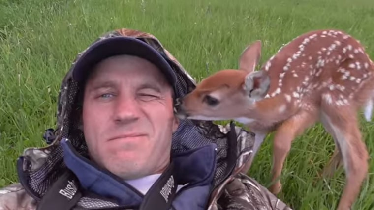 So cute! Baby deer rescue