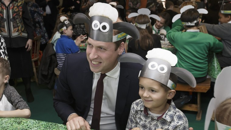 Prince William at the Shaun the Sheep premiere in London Monday.