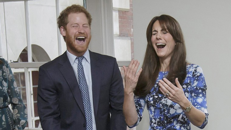 Prince Harry and Duchess Kate in London on Monday