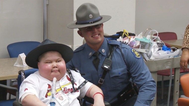 Zyron Ward's surprise party at St. Louis Children's Hospital