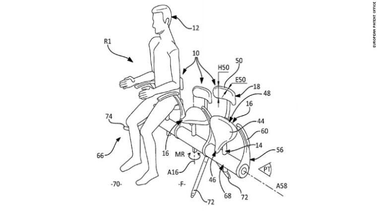 7 scary airline seat patents: saddle seat