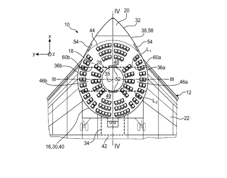 7 scary airline seat patents: Spaceship-like seating