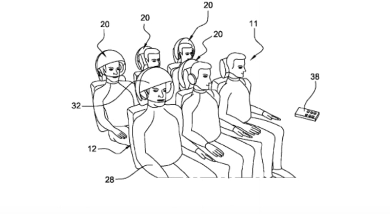 7 scary airline seat patents: Airbus' sensory helmets