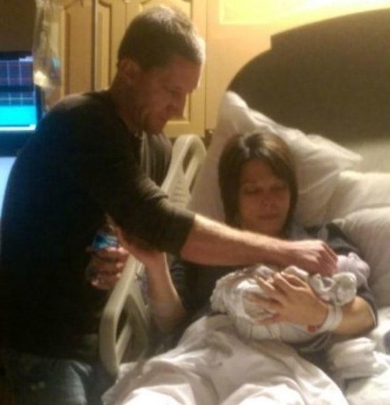 Brittany and Brandon with their stillborn baby
