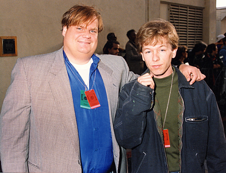 David Spade and Chris Farley