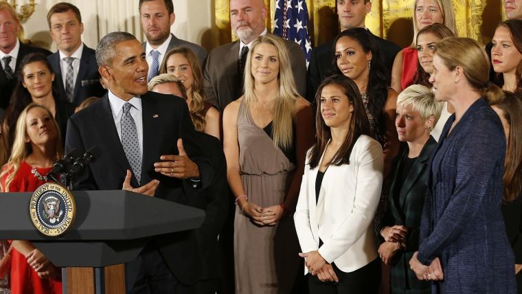 Image: Soccer: U.S. Women's National Soccer Team at White House