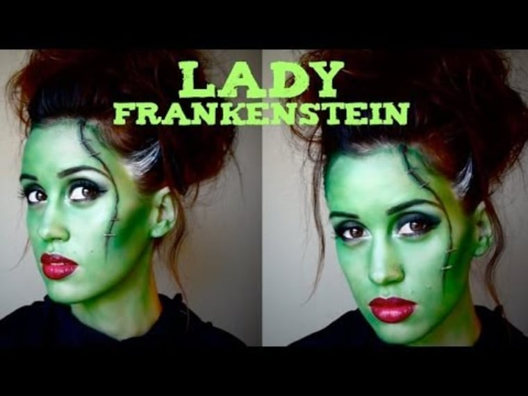 lady frankenstein makeup