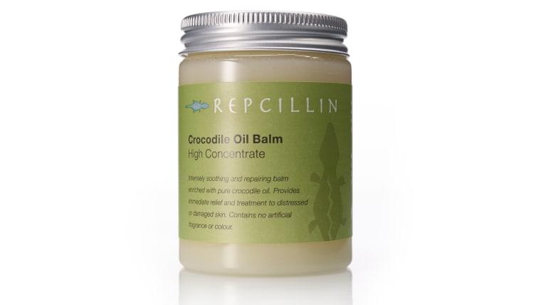 Repcillin's crocodile oil balm.