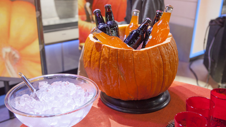 Martha Stewart transforming gourds into creatures on TODAY.