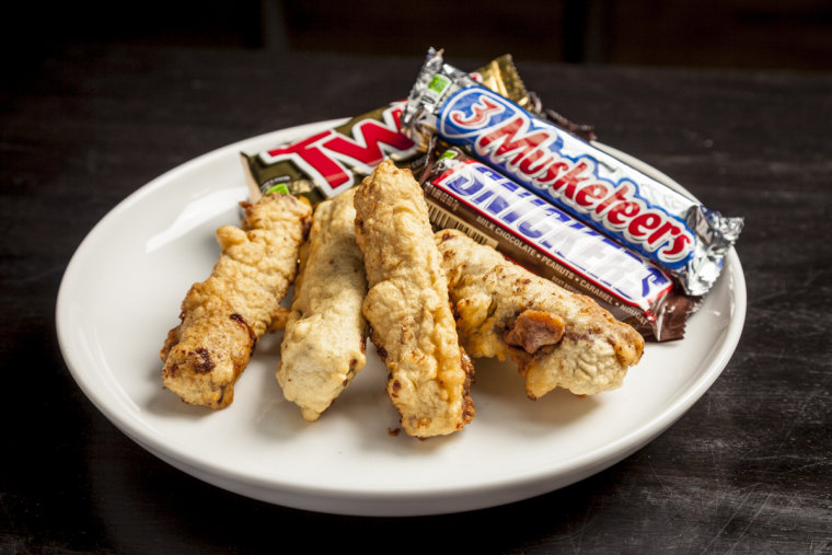 Deep fried candy bars