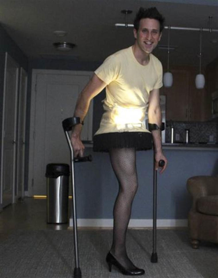 In 2012, Josh Sundquist celebrated Halloween as the leg lamp from A Christmas Story