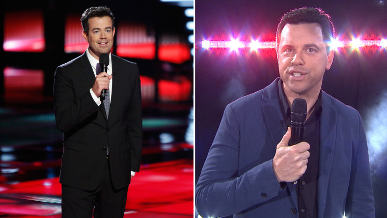Carson Daly and Willie Geist