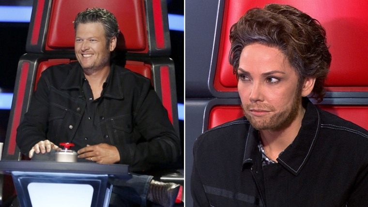 Blake Shelton and Erica Hill