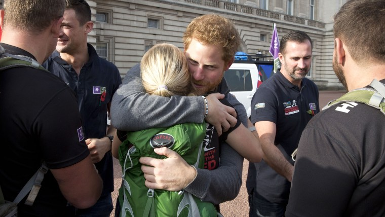 Prince Harry Meets Walking With The Wounded Team