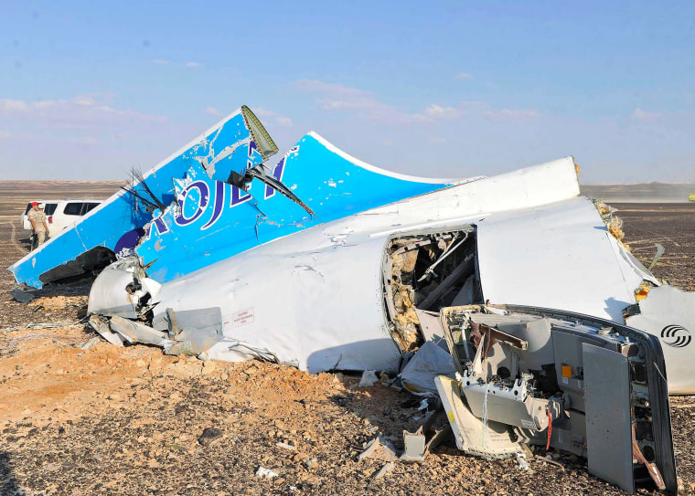 Image: Debris from crashed Russian jet