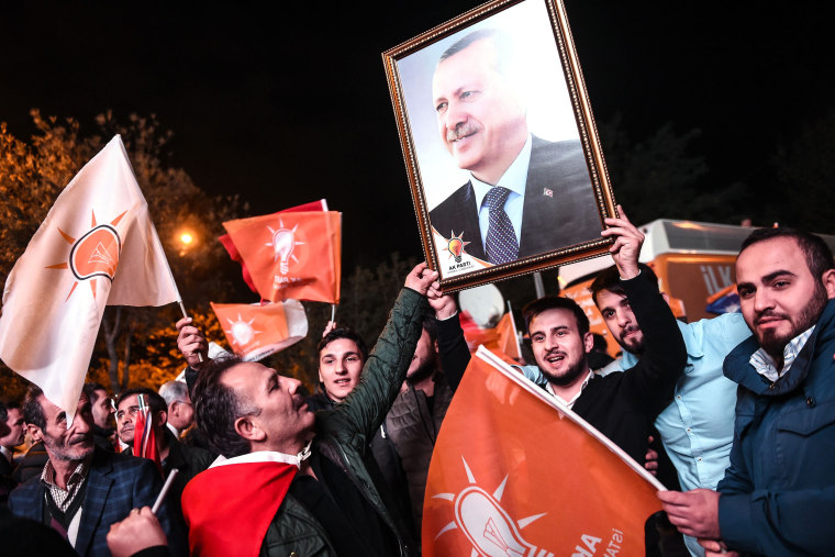 Image: Supporters of Turkey's Justice and Development Party (AKP)
