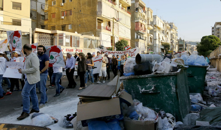 Image: LEBANON-WASTE-CRISIS-POLITICS-ENVIRONMENT-DEMO