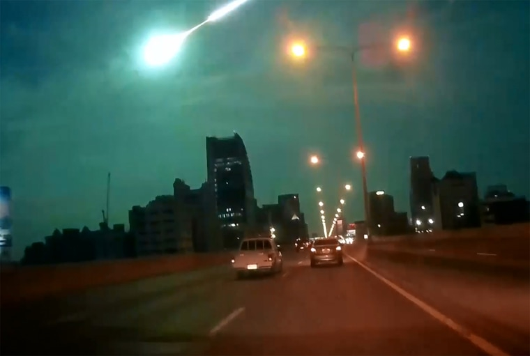Night suddenly turned to day across Bangkok when a huge fireball appeared in a flash, streaking across the night sky.