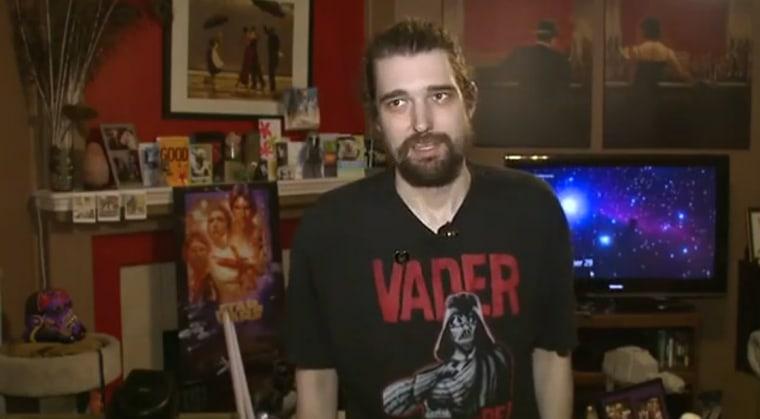 Daniel Fleetwood, seen last week, has been a Star Wars fan since childhood.