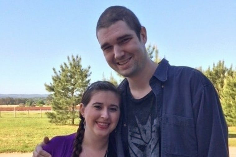 Daniel Fleetwood poses with his wife in an image from his GoFundMe page.