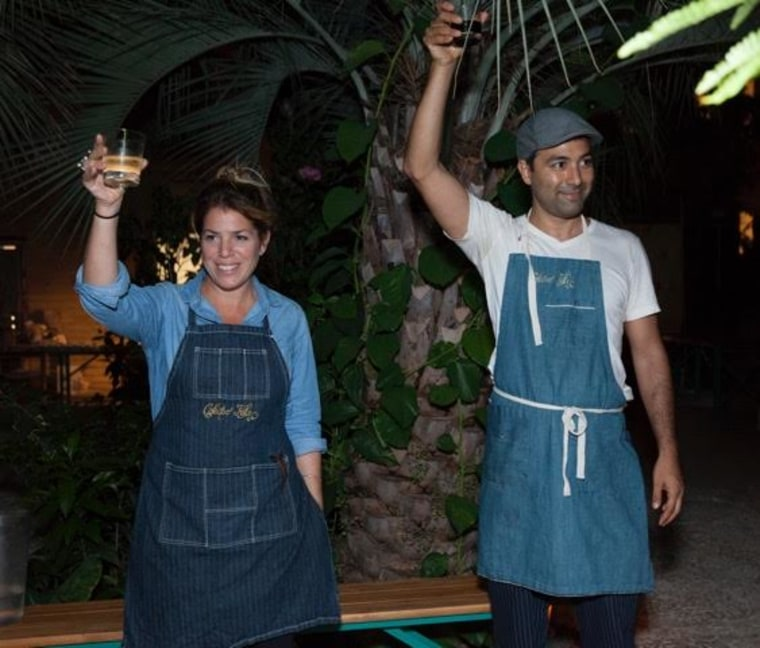 Diego Felix and his New York tour manager, Flor Azpiroz.