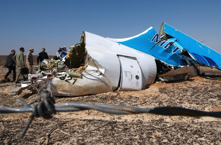 Image: Russian plane crashes in Egypt with 224 aboard
