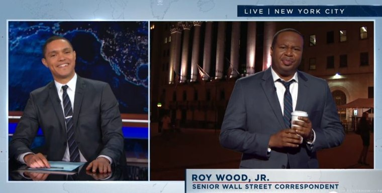"""Screenshot from """"The Daily Show with Trevor Noah."""""""