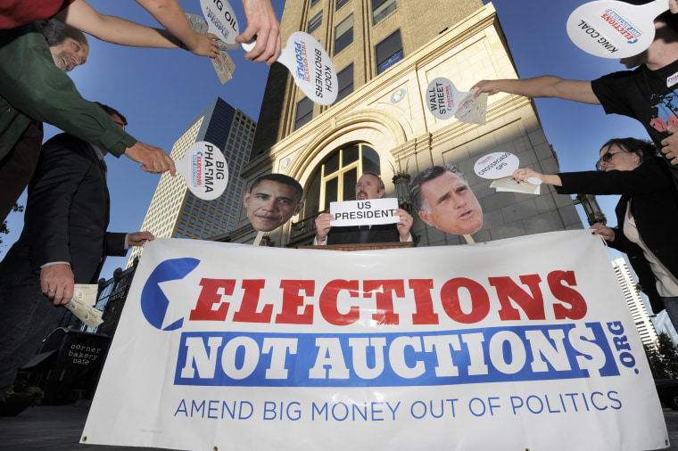 Image: An event by Avaaz's Elections not Auctions in Denver, Oct.. 2,