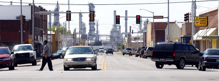 Image: a refinery in Ponca City, Okla.